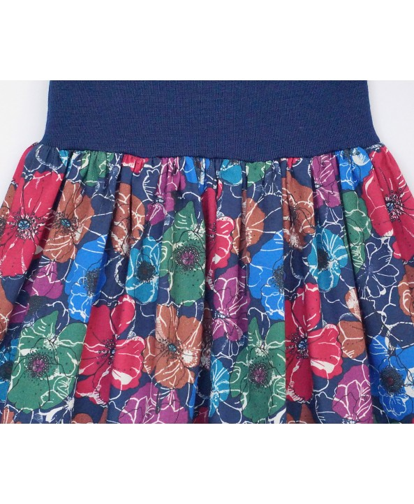 Cotton Floral Skirt 2-4 years elastic waist band