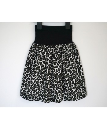 Cotton corduroy skirt 2 to 7 years black green dalmatian
