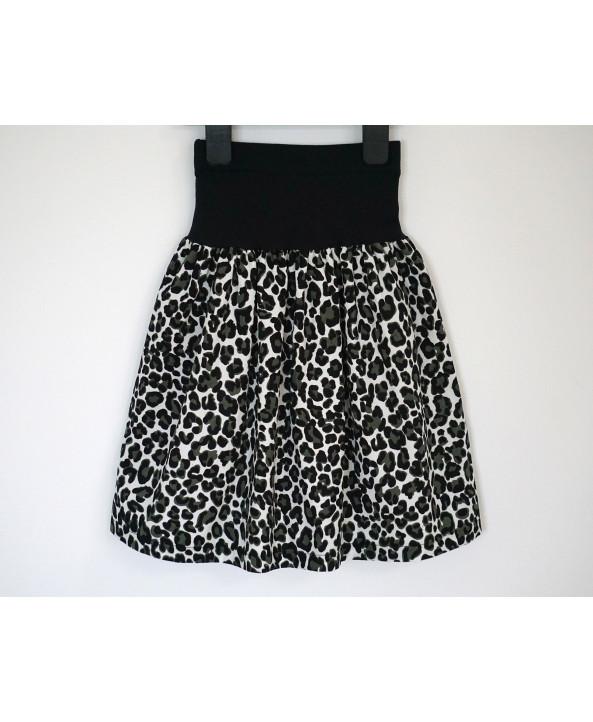 Cotton corduroy skirt 2 to 7 years black green dalmatian