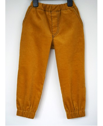 Kids Corduroy Trousers Unisex Yellow Toddler 2-3 years Christmas