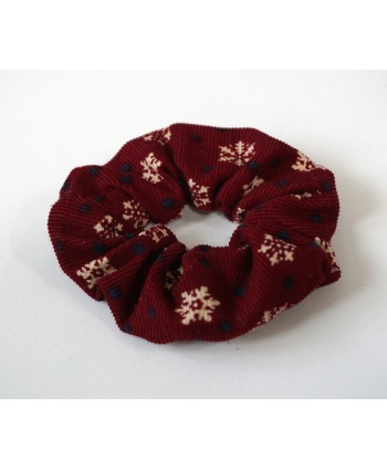 Corduroy scrunchie Christmas hair tie, hair accessories, girls hair band, Handmade in UK