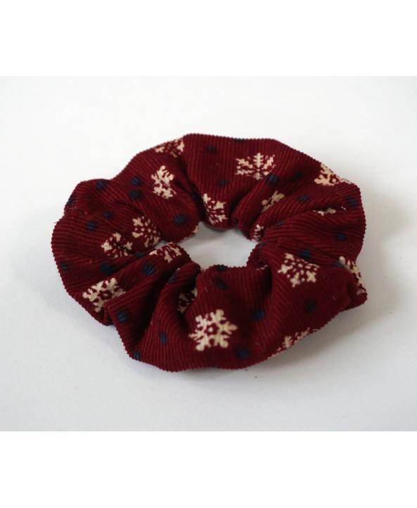 Corduroy scrunchie Christmas hair tie, hair accessories, girls hair band, Handmade in UK