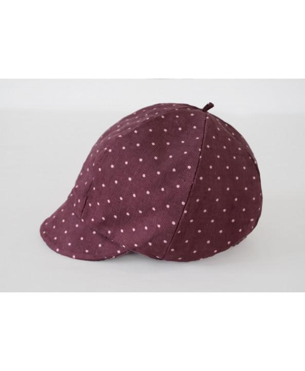 Girls 2-3 years Dusky Pink Polka Dot Hat/Baret Handmade UK Christmas Gift