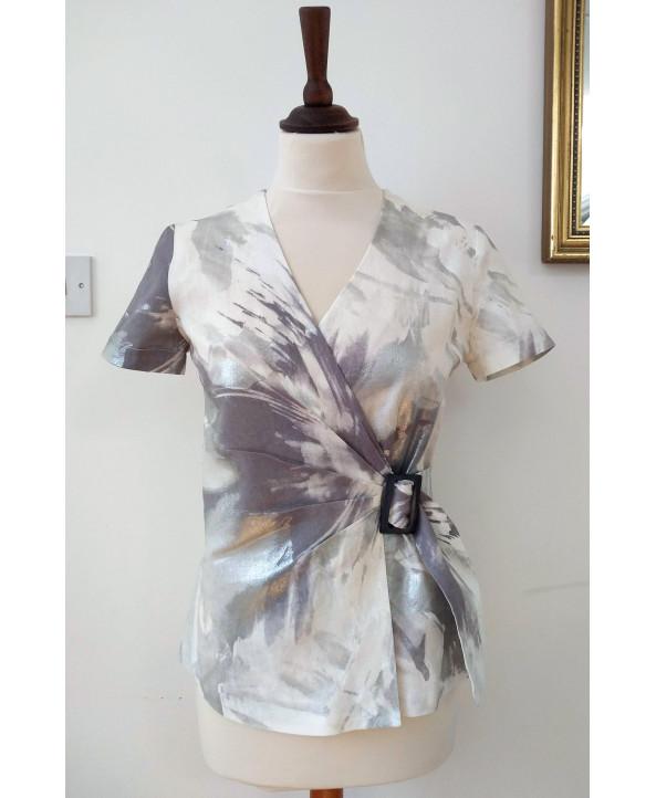 Summer Linen Print Jacket Size 10