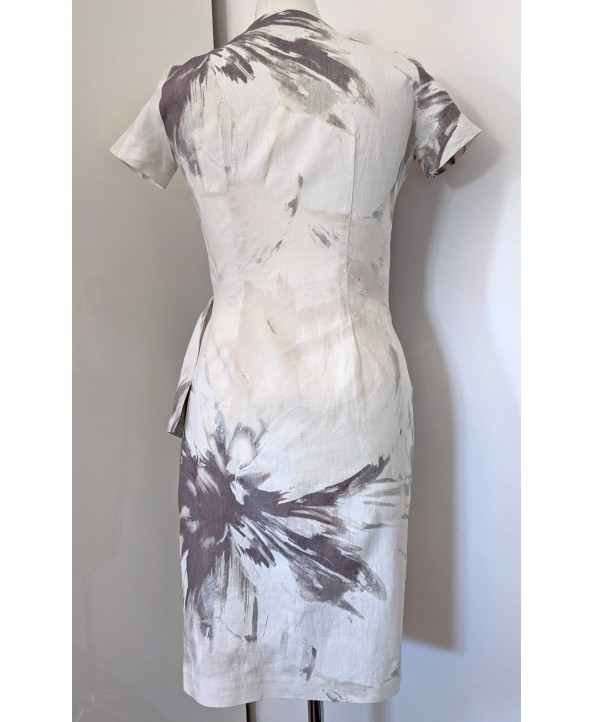 Fitted Pure Linen Dress Size 8-10